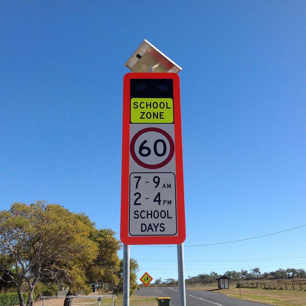 Enhanced Solar School Zone Sign 2
