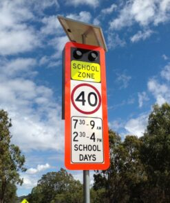 Enhanced Solar School Zone Sign 1