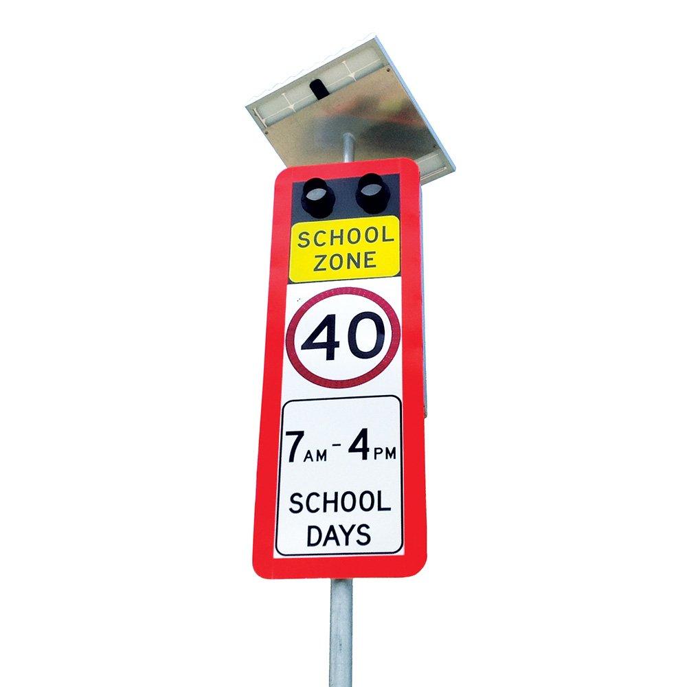 Enhanced Solar School Zone Sign