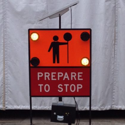 LED enhancement Road Work Sign