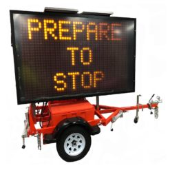 Mobile VMS (Variable Message Signs)